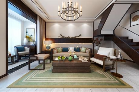 孔雀城荷院218㎡新中式别墅