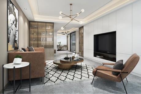 上海春城130㎡现代简约三室两厅
