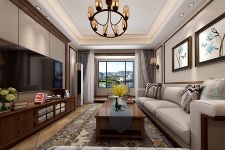 崇明融创海上桃源160㎡美式五室两厅