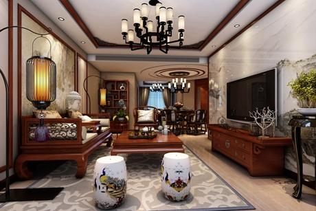 闵行浦江颐城125㎡新中式3室2厅2卫
