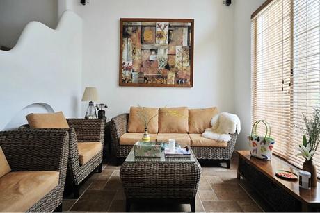绿地蔷薇九里150㎡地中海三室两厅