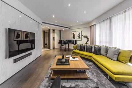 环龙新苑150㎡现代简约三室两厅