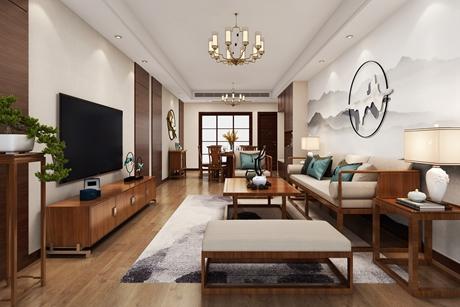 嘉定禹洲老城里123㎡新中式三室两厅
