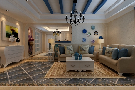 恒盛豪庭115㎡地中海三室两厅