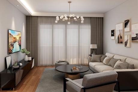 嘉丽豪园130㎡现代简约三室两厅