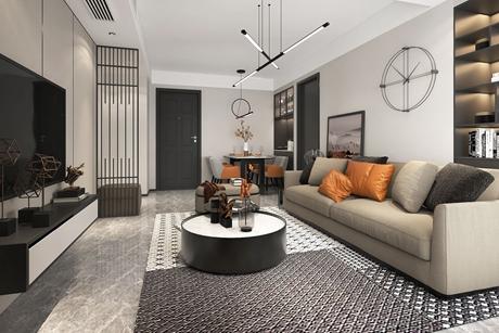长宁证大家园110㎡现代简约两室两厅