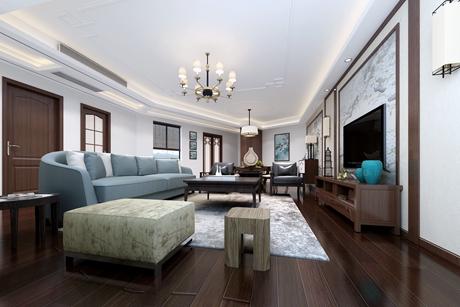 梅花园120㎡新中式四室两厅