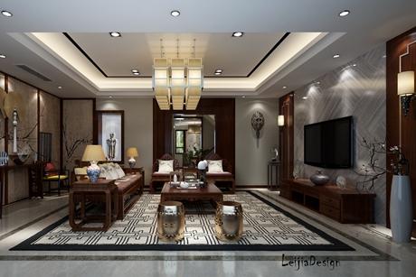 徐汇茂龄别墅270㎡新中式别墅