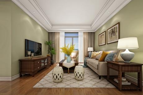 金山新城112㎡美式三室两厅