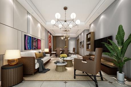 金山区112㎡现代简约三室两厅