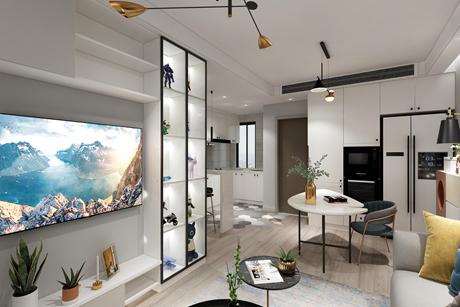 上海金山府90㎡现代简约1室1厅1卫