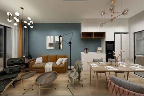 长宁畅园公寓120㎡现代简约两房两厅