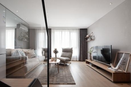 徐汇柚米国际64㎡现代简约公寓