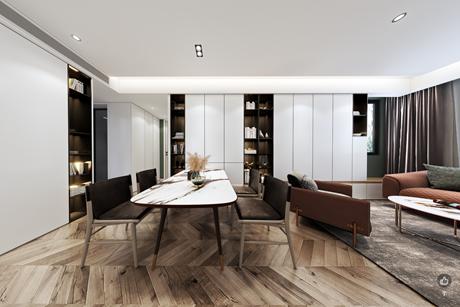 徐汇龙漕路105㎡现代简约3室1厅