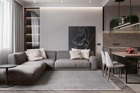 虹口香港丽园120㎡现代简约公寓