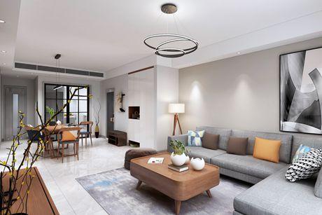 徐汇创世纪花园123㎡现代简约3室2厅