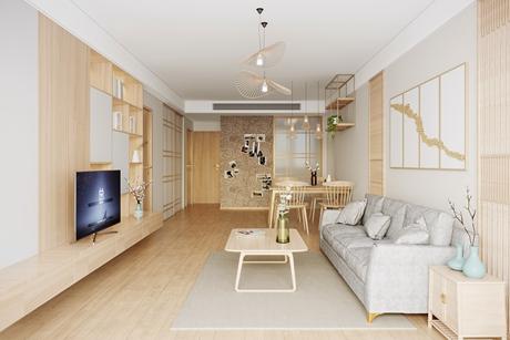 大华碧云天85㎡日式公寓
