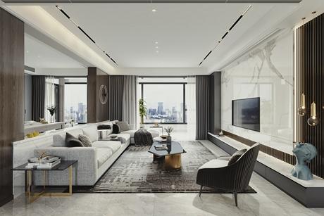 黄浦华庭140㎡现代简约3室2厅
