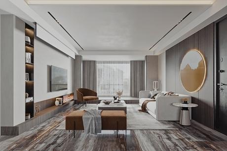 杨浦同济新苑90㎡现代简约3室1厅