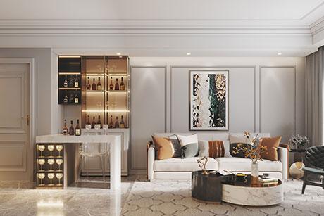 光明金山府邸120㎡新古典二房一厅