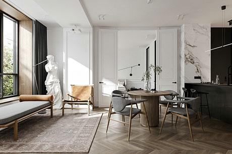 双阳公寓120㎡新古典二房一厅