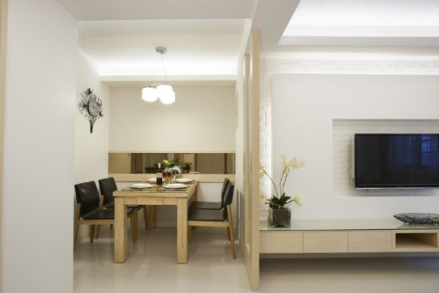100平现代简约婚房效果图-客餐厅