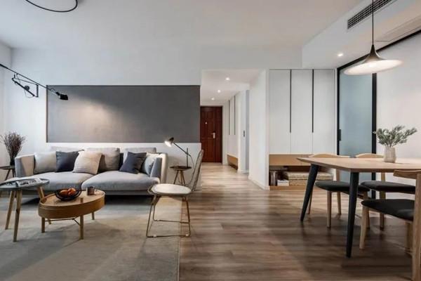 115平装修效果图 开放式客餐厅舒适又自然