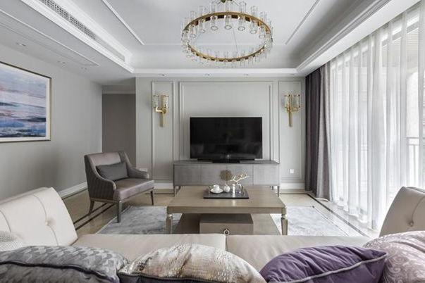 上海奉贤区170平大平层洋房装修效果图 美式轻奢大气精致