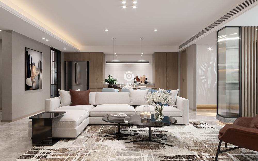 徐汇海珠公寓130㎡现代简约3室2厅