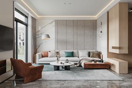 不同寻常的家190㎡现代简约3室2厅