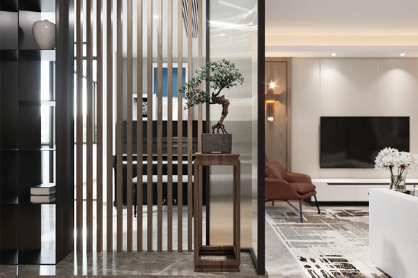 上海二手房装修案例:130㎡现代风三室户舒适又沉稳!
