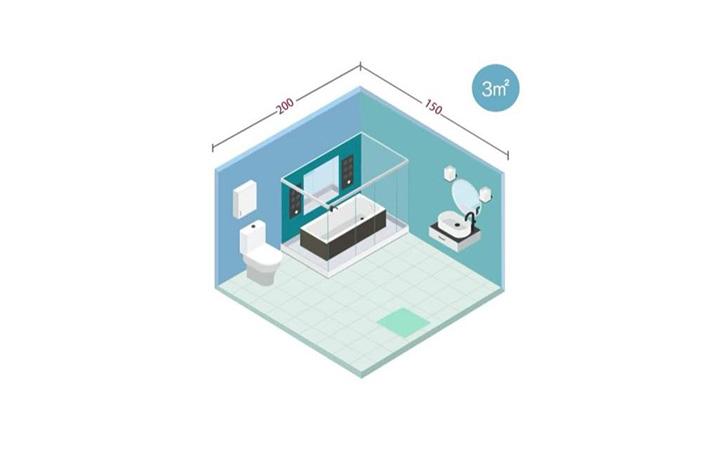 3-5㎡的卫生间这样布局,干湿分离又显宽敞