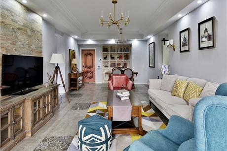 美式怀旧风住宅140㎡美式四房二厅