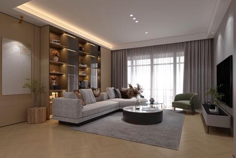 尚海郦景180㎡现代简约三室两厅两卫