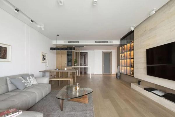 沔溪苑122平米三房改两房装修案例分享
