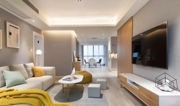 康桥半岛国际公寓136㎡北欧风三居室装修案例图赏