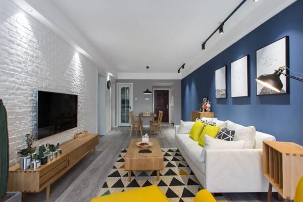 看了南华城这套90平清新北欧风两居室装修案例