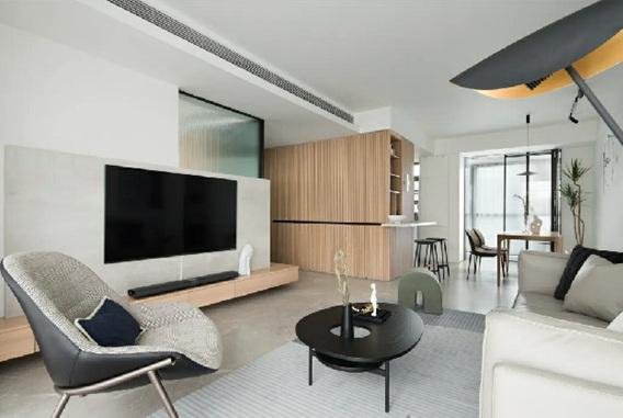 110平原木风装修 四居室极简 个性有态度!