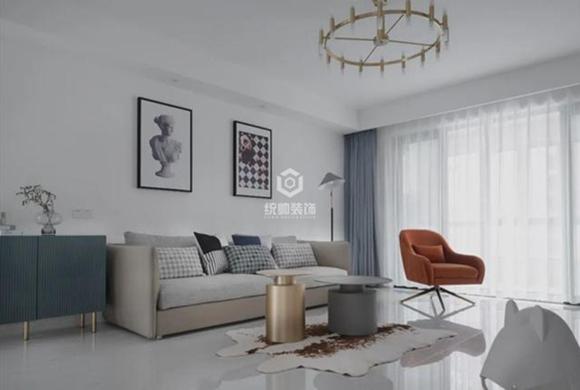 143㎡现代轻奢装修效果图,爱马仕橙+黄铜金,演绎低调的奢华