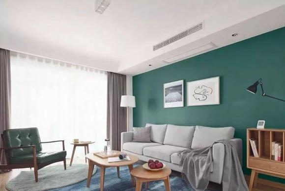 金地湾流域88㎡简约风两房装修案例推荐,用电视墙做收纳超实用!