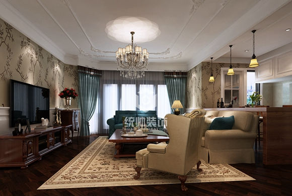 嘉里华庭190平美式风格别墅