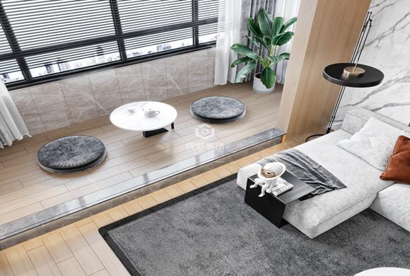 虹桥中园150平现代简约四居室