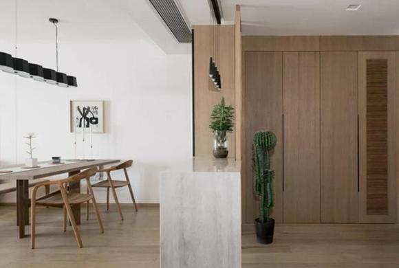 沔溪苑122平米三房改两房装修案例分享,全屋原木风太漂亮了!