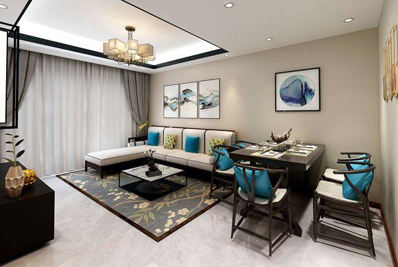 嘉定柏瀾晶舍100平美式輕奢公寓